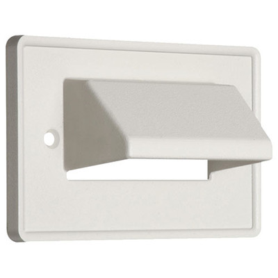 Arlington The SCOOP Cable Access Wallplate, Horizontal, 1-Gang