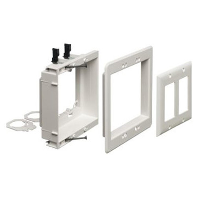 Arlington Recessed Low-Voltage Mounting Bracket, 2-Gang, White (Open Box)