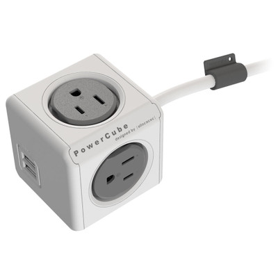 Allocacoc PowerCube Extended USB, Gray