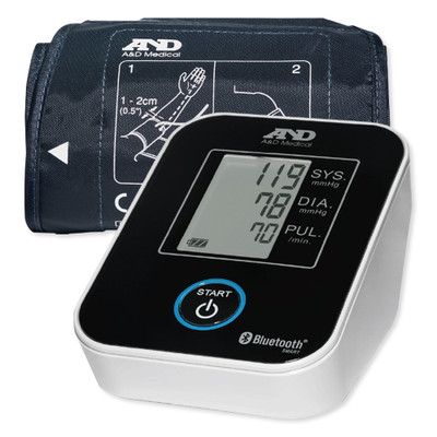 A&D Wireless Upper Arm Blood Pressure Monitor with Wide Range Cuff, 8.6 In. to 16.5 In.