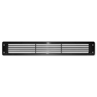 Cool Components Grill for Narrow 2x15.5 In. Openings, Black