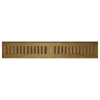 Cool Components Grill for Narrow 2x15.5 In. Openings, Teak