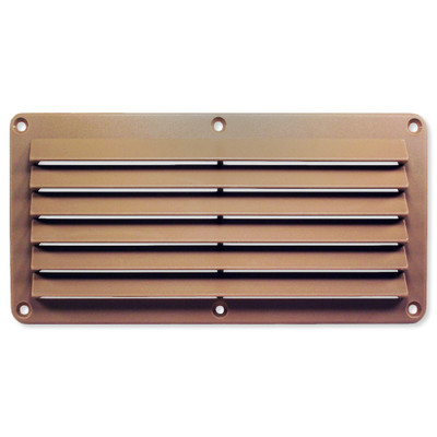 Cool Components Grill for 4x10 In. Openings, Plastic, Tan