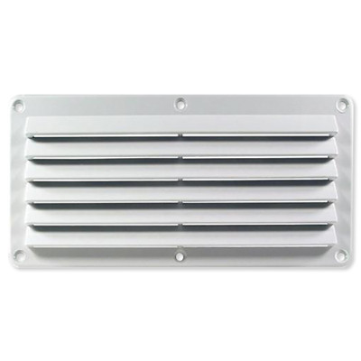 Cool Components Grill for 4x10 In. Openings, Plastic, White