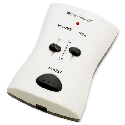 ClearSounds Portable Phone Amplifier, White