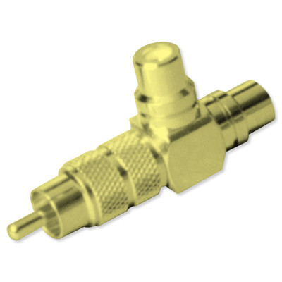 Channel Vision Audio/Video Y Connector (Gold-Plated)