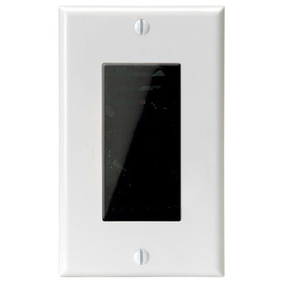Channel Vision In-Wall Single-Gang Camera, WDR, White