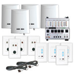 Channel Vision Crescendo Audio Distribution Kit, 1 Source, 4 Zones