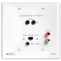 Channel Vision 2-Zone A-BUS Distribution Module with Local Audio Input