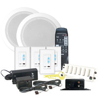 Channel Vision A-BUS Audio Distribution Kit with Speakers, 1 Source, 4 Zones, White