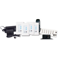 Channel Vision A-BUS Audio Distribution Kit, 1 Source/4 Zones, White
