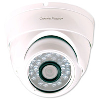 Channel Vision 960H Varifocal Eyeball Dome Camera, White