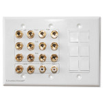 Channel Vision 7.2 Surround Sound Home Theater Wallplate & Keystone Ports