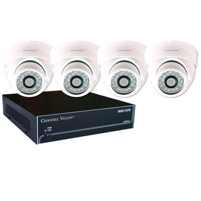 Channel Vision HE Digital Video Recorder (DVR) & Dome Camera Kit