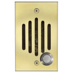 Channel Vision IU Door Speaker for Cat5 Intercom, Polished Brass