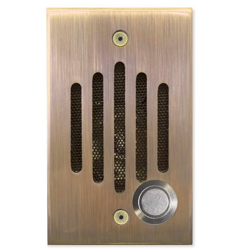 Channel Vision IU Intercom Door Speaker \u0026 Camera Antique Brass