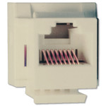 Channel Vision Cat5e Data Keystone Snap-In Connector, Almond