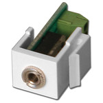 Channel Vision IR Breakout Keystone Snap-In Connector, White