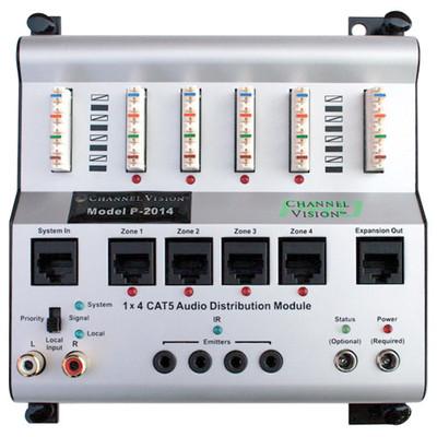Channel Vision Crescendo Cat5 Audio System Matrix, 1 Source/4 Zones