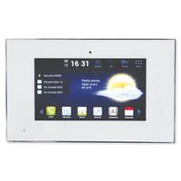 Channel Vision 7 In. IP Intercom Touchscreen Room Station, White