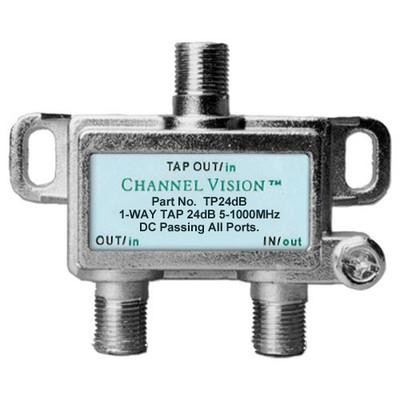 Channel Vision Line Tap 1dB Loss, DC Pass, 24dB
