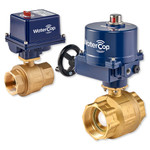 WaterCop Lead Free Brass Ball Valve with 12VDC Industrial Actuator, Low Voltage