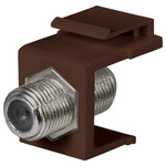 DataComm F Keystone Snap-In Connector, 1 GHz, Brown