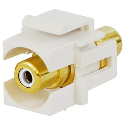 DataComm RCA Keystone Snap-In Connector, White Insert, White