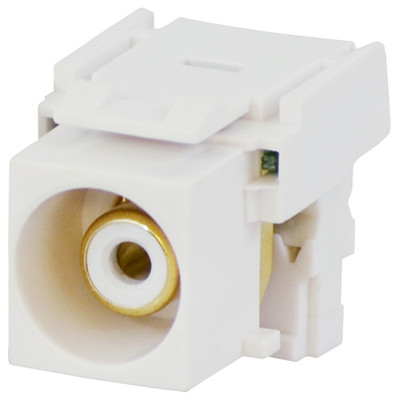 DataComm RCA to 110 Keystone Snap-In Connector