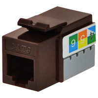 DataComm Cat3 Keystone Snap-In Connector, Brown