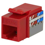 DataComm Cat5e Keystone Snap-In Connector, Red