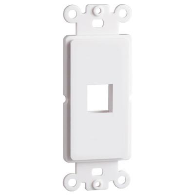 DataComm Keystone Decorator Strap, 1-Port, White