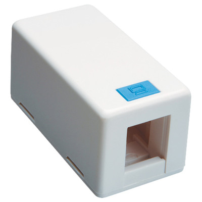 DataComm Keystone Surface-Mount Box, 1-Port, White