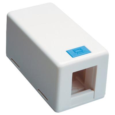 DataComm Keystone Surface-Mount Box, 1-Port, White