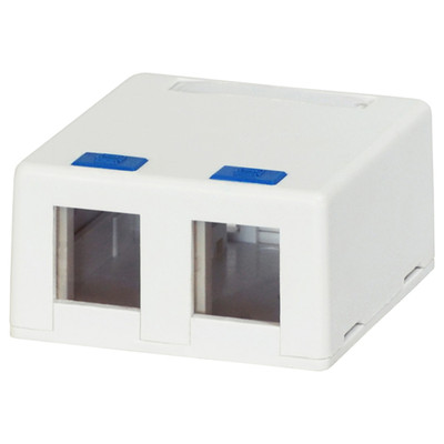 DataComm Keystone Surface-Mount Box, 2-Port, White