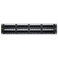 DataComm Universal Patch Panel, Cat5e, 48-Port