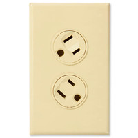 360 Electrical Rotating Duplex Receptacle, 15A, Ivory