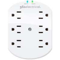 360 Electrical Loft 6 Outlet Surge Wall Tap