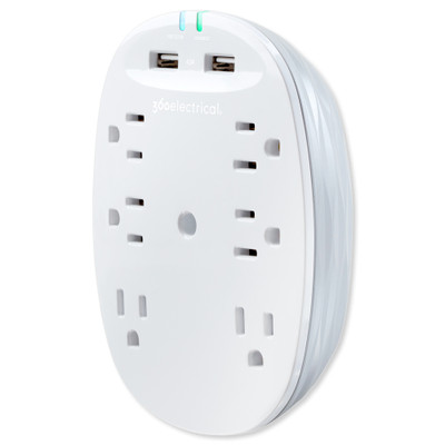 360 Electrical Studio4.8 Surge Protector with 6 Outlets and USB