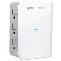 360 Electrical SideLine Surge Protector Wall Tap with 6 Horizontal Outlets