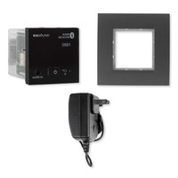EISSOUND In-Wall Bluetooth Audio Receiver with Power Supply, Black (E.U.)