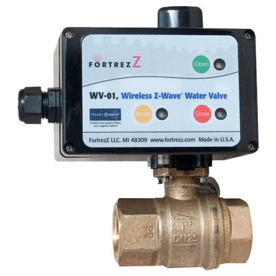 FortrezZ Z-Wave Automated Water Shut-off Valve