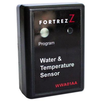 FortrezZ Z-Wave Flood & Temperature Sensor with Buzzer, Black