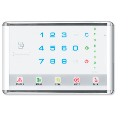 Interlogix NetworX Advanced Touch LED Keypad, Landscape, White