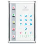 Interlogix NetworX Advanced Touch LED Keypad, Portrait, White