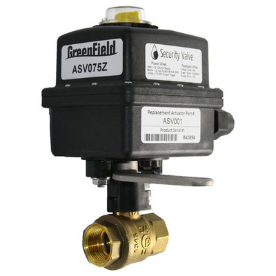 Greenfield Automatic Security Valve Kit, 3/4 In. Brass Ball Valve