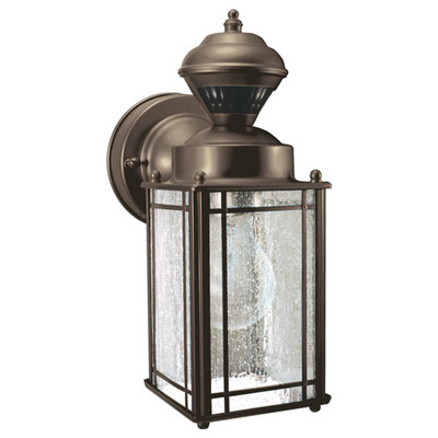 Heath-Zenith Motion-Activated DualBrite Mission Cove Coach Light, Oil-Rubbed Bronze