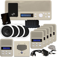 IST I2000 Music & Intercom Deluxe 5-Room Kit with Speakers, Almond