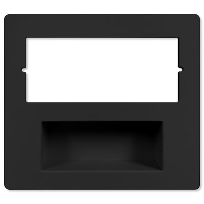 IST RETRO Music & Intercom Combination Trim Cover Plate, Black