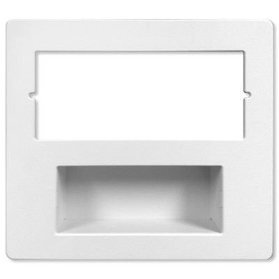 IST RETRO Music & Intercom Combination Trim Cover Plate, White